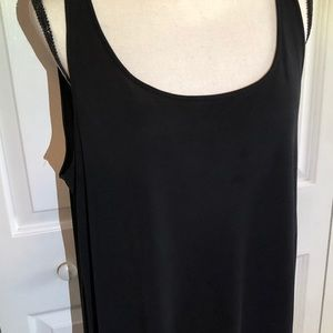 Eileen Fisher black silk tank top